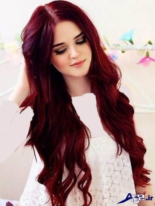 رنگ موی قرمز ماهگونی