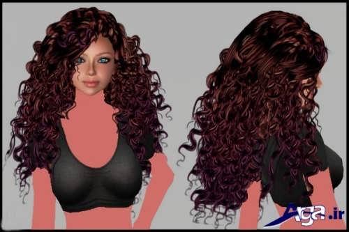 رنگ موی ماهگونی با هایلایت کارملی