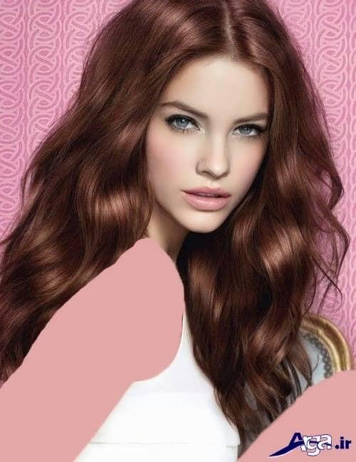 رنگ موی قهوه ای ماهگونی