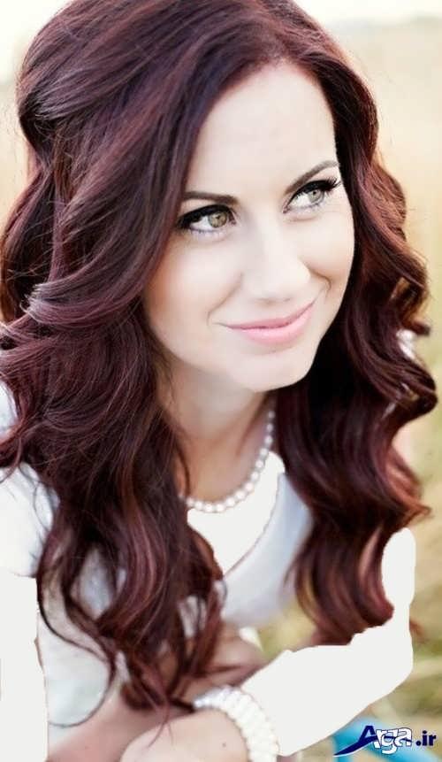 رنگ موی ماهگونی زیبا