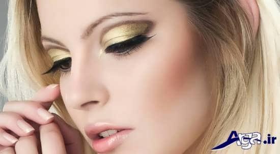 مدل سایه چشم طلایی جدید