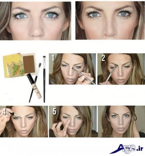 کوچک کردن بینی با کمک گریم