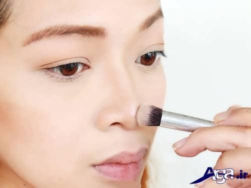 روشن کردن بینی با کرم پودر