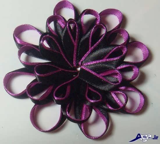 نحوه ساخت گل با روبان های ظریف