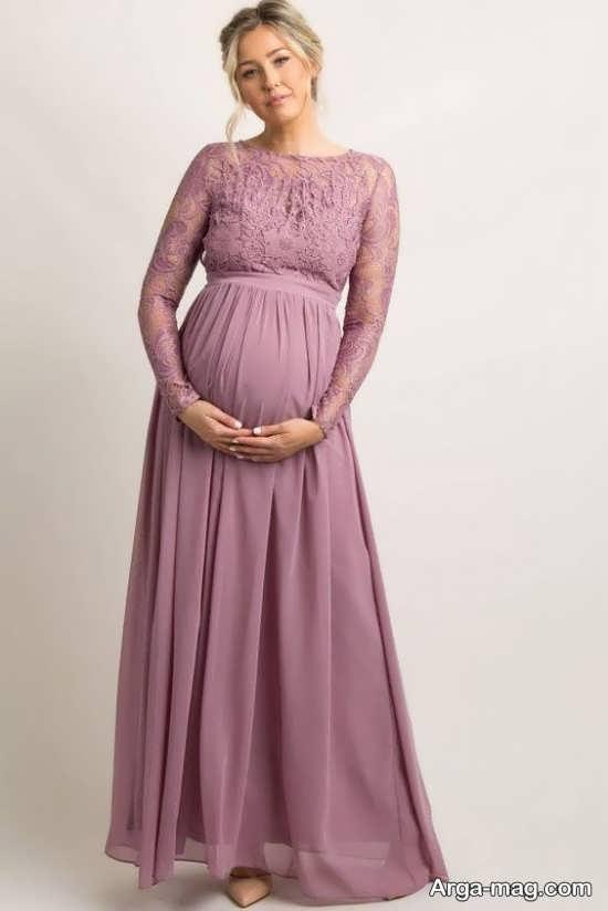 مدل پیراهن بارداری صورتی