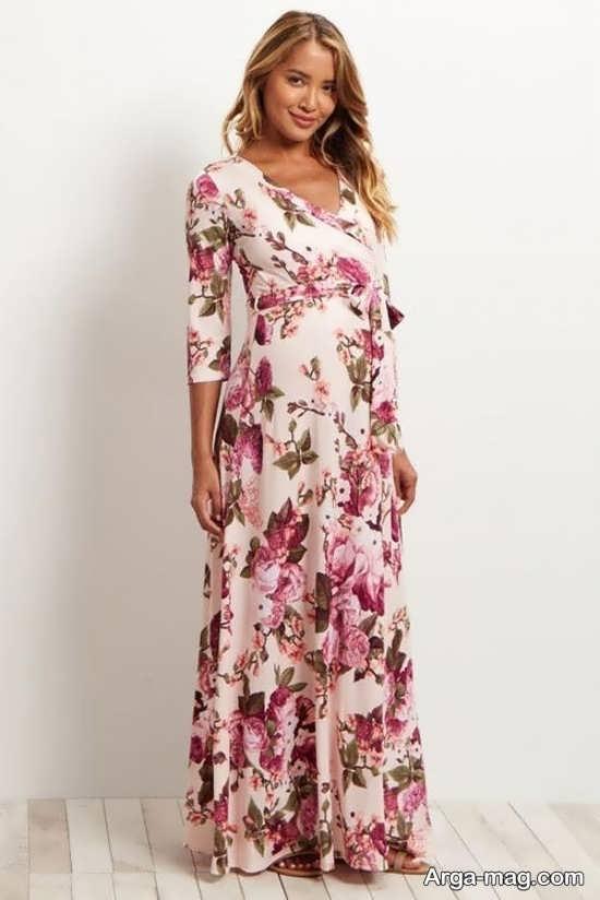 مدل لباس بارداری گلدار