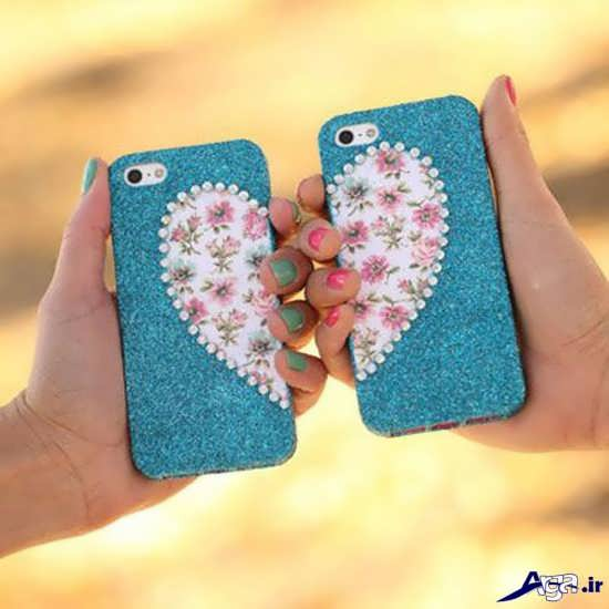 تزیین رمانتیک قاب گوشی موبایل