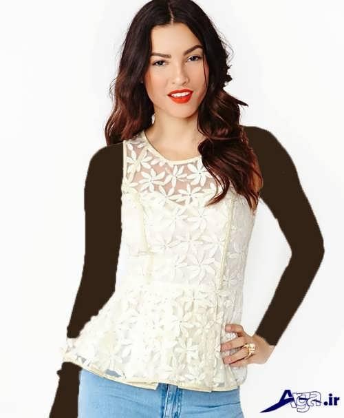 مدل بلوز گیپور سفید
