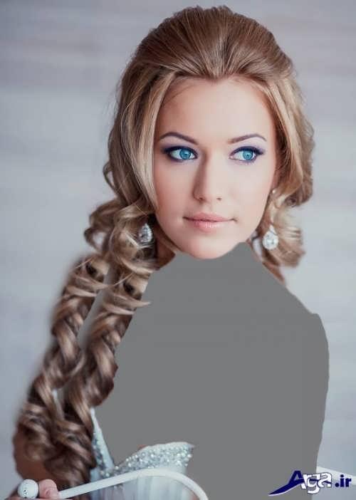 مدل موی باز و آرایش لایت برای عروس