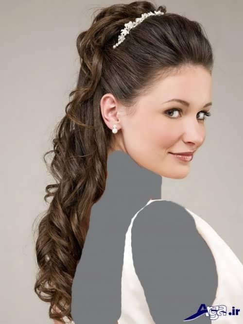 مدل مو و آرایش ساده برای عروس
