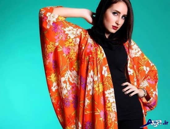 مدل آستین کیمونو بریا مانتو