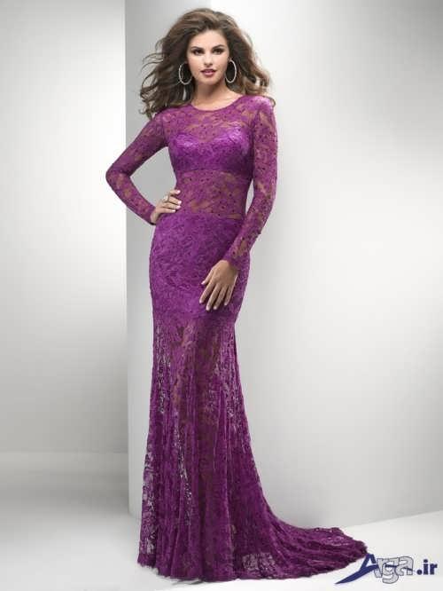 مدل لباس نامزدی جدید گیپور دار