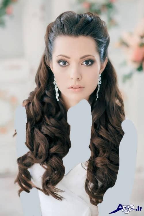انواع متنوع مدل موی باز عروس