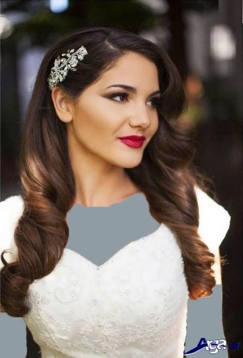 مدل موی باز عروس شیک و زیبا