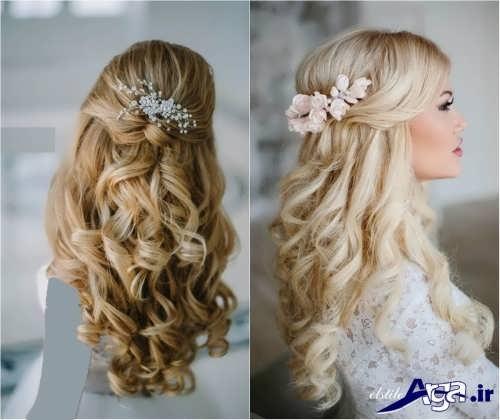 مدل موهای جذاب باز برای عروس