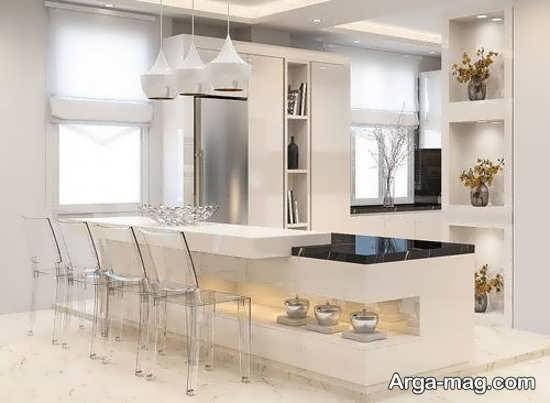 مدل اپن آشپزخانه لوکس