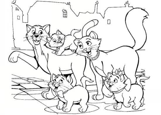نقاشی خانواده گربه