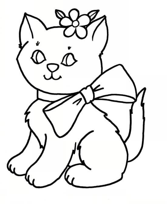 انواع نقاشی های زیبا و جالب گربه برای رنگ آمیزی کودکان