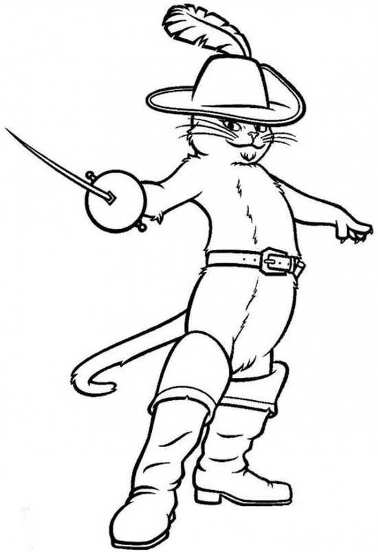 نقاشی گربه های چکمه پوش