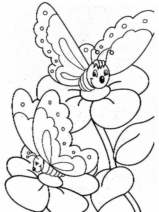 نقاشی فانتزی پروانه بر روی گل