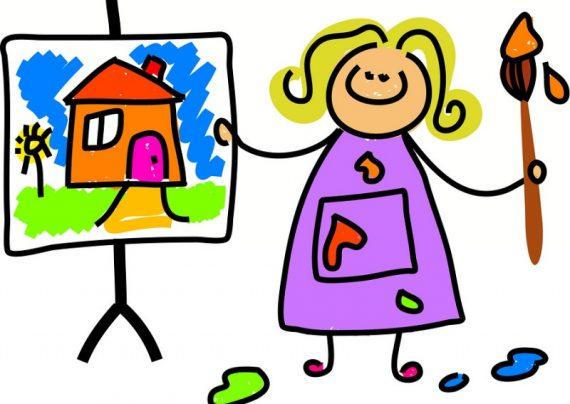 نقاشی کودکانه فانتزی