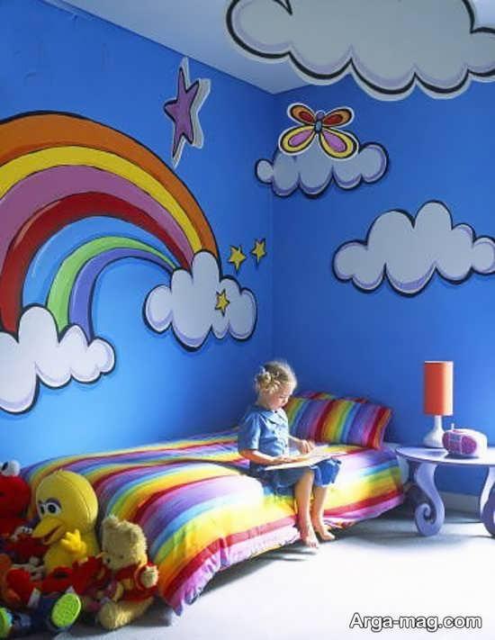 ایده نقاشی روی دیوار