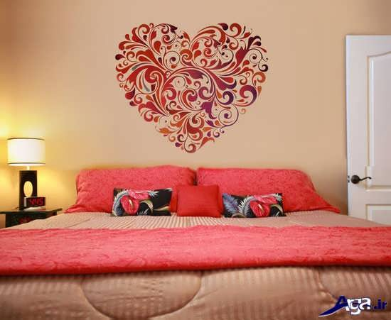 نقاشی روی دیوار اتاق خواب