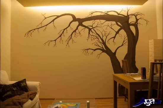 نقاشی با رنگ روغن روی دیوارها
