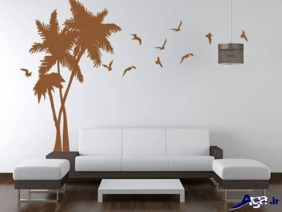 نقاشی ساده روی دیوار