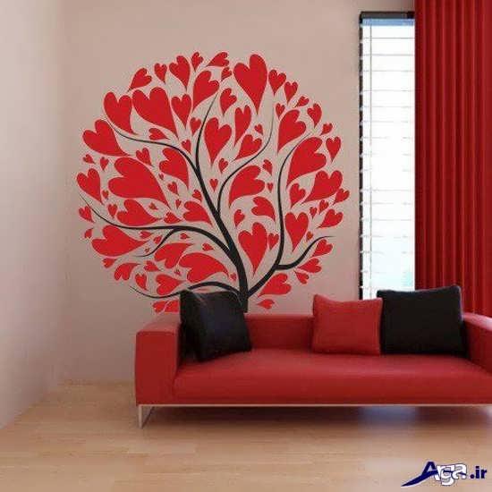 تزیین دیوار پذیرایی با نقاشی