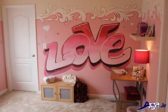نقاشی روی دیوارهای اتاق