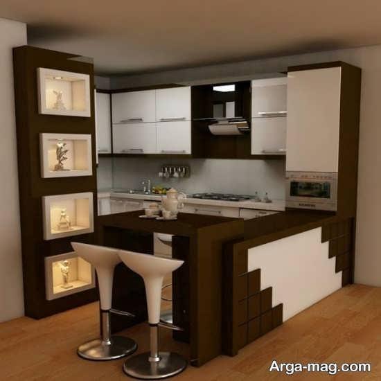 طراحی زیبا کابینت آشپزخانه ایرانی