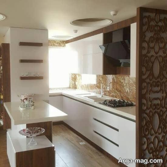 کابینت آشپزخانه کوچک با طراحی متفاوت