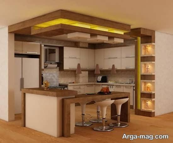 کابینت آشپزخانه کوچک با طراحی دوست داشتنی