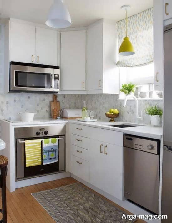 کابینت آشپزخانه کوچک با طراحی مدرن