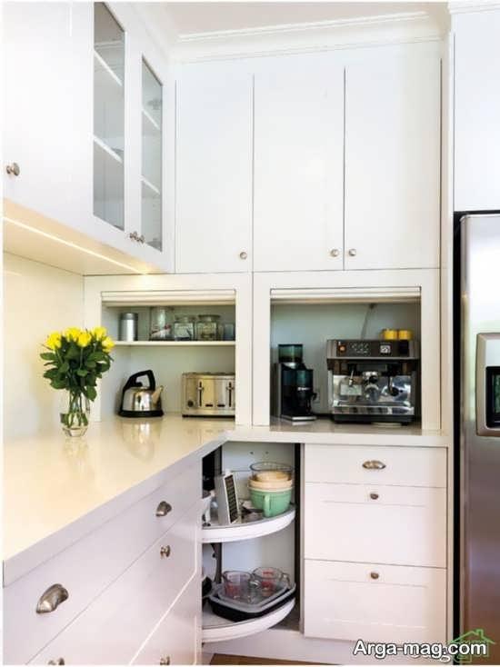 کابینت آشپزخانه کوچک با طراحی جذاب