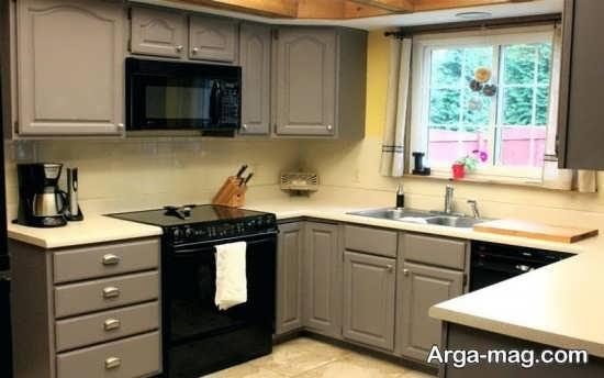 کابینت آشپزخانه کوچک با طراحی متنوع