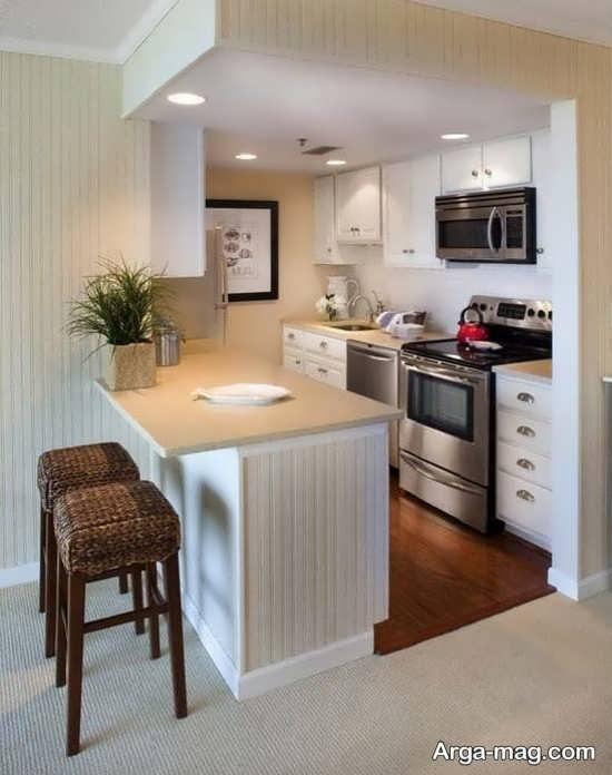 جدیدترین طراحی کابینت آشپزخانه کوچک