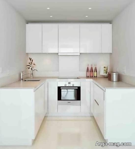 شیک ترین طراحی کابینت آشپزخانه کوچک