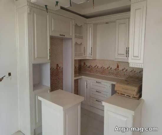قشنگ ترین طراحی کابینت آشپزخانه کوچک