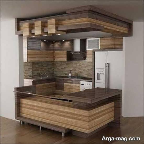 طراحی متفاوت کابینت آشپزخانه ایرانی
