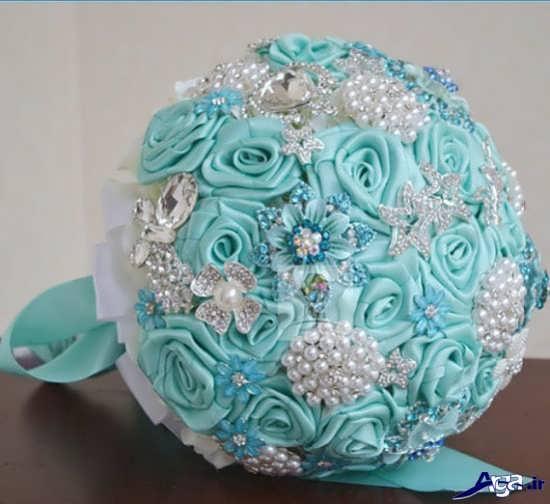 دسته گل عروس آبی