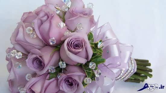 عکس زیبای دسته گل عروس با گل رز