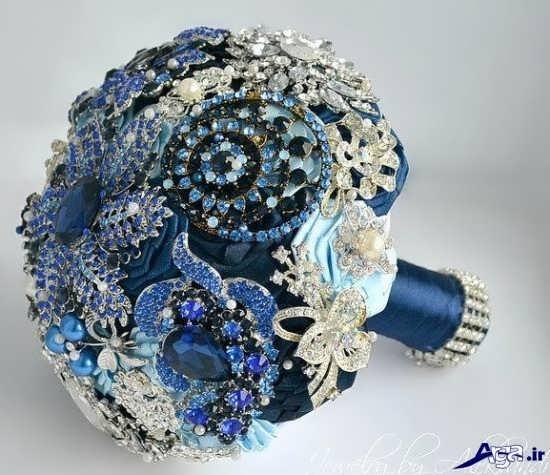 عکس دسته گل آبی برای عروس