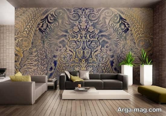 کاغذ دیواری طرح پوستر گل