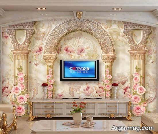 کاغذ دیواری با طرحی زیبا از پوستر