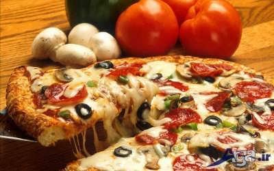 پیتزا مخصوص فوق العاده خوشمزه