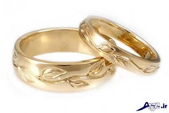 ست حلقه ازدواج زرد