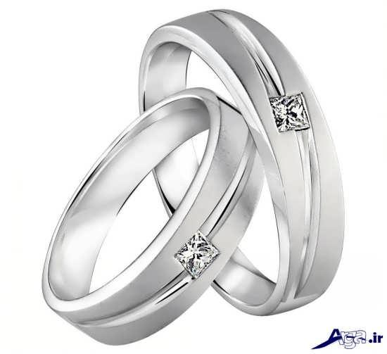 ست حلقه ازدواج سفید جدید و شیک