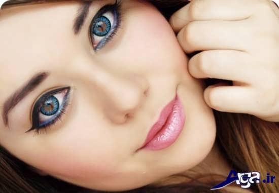 مدل آرایش جشم به همراه لنز
